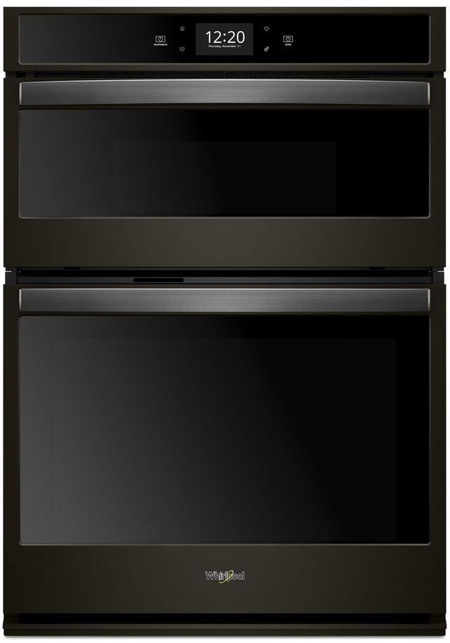 "Whirlpool® 30"" Fingerprint Resistant Black Stainless Smart Combination Wall Oven-WOC75EC0HV"