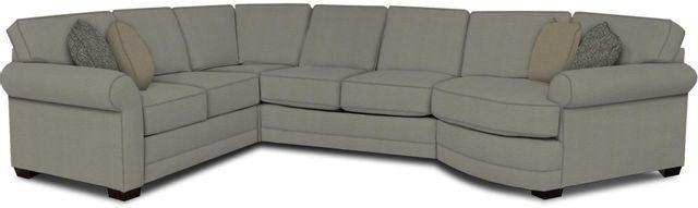 England Furniture Co. Brantley 4 Piece Culpepper Cement/Alvarado Mineral/Zanzibar Powder Sectional-5630-28-22-43-95+8612+8693+8601