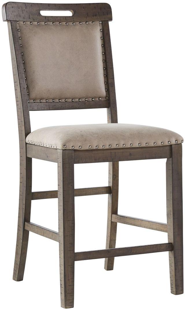 Benchcraft® Johurst Beige/Brown Upholstered Bar Stool-D762-124
