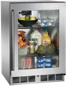 Perlick Signature Series 5.2 Cu. Ft. Compact Refrigerator-Stainless Steel/Glass Door-HP24RS-3L