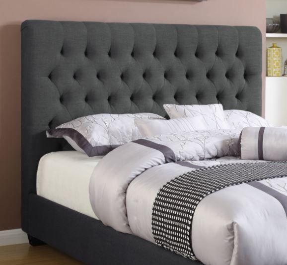 Coaster® Chloe Charcoal Upholstered Queen Headboard-300529QB1
