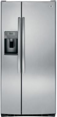 GE® 23.2 Cu. Ft. Stainless Steel Side-By-Side Refrigerator-GSS23GSKSS