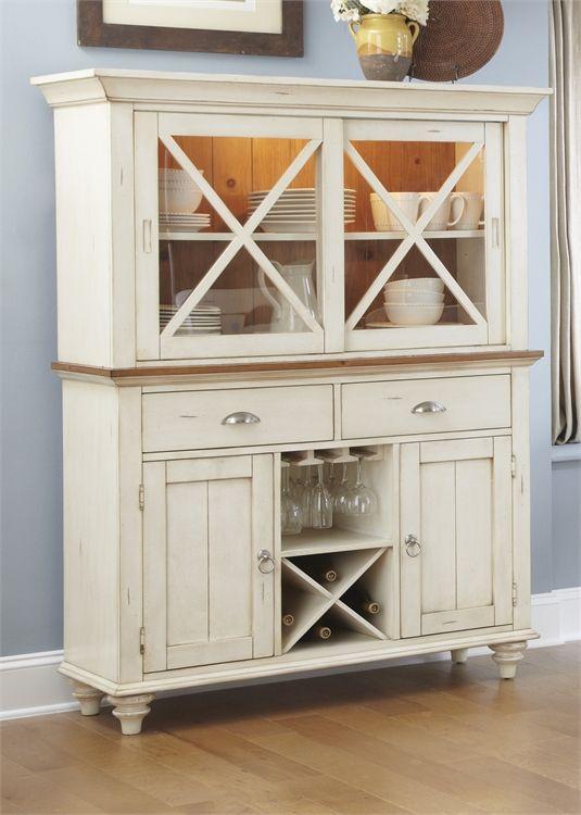 Liberty Furniture Ocean Isle Antique White Buffet-303-CB4866