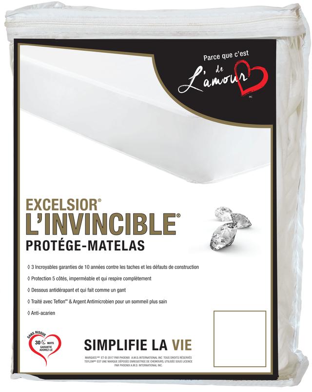 Protège-matelas simple 10 po Invincible® Excelsior®-G2-10INVIN39