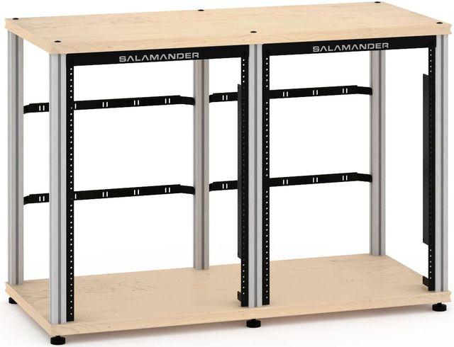 Salamander Designs® Synergy Twin 30 Rack Mount-Natural Maple/Aluminum-SN30RMM/A