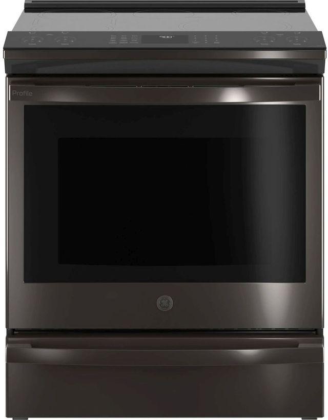 "GE Profile™ 30"" Black Stainless Slide In Induction Range-PHS930BPTS"