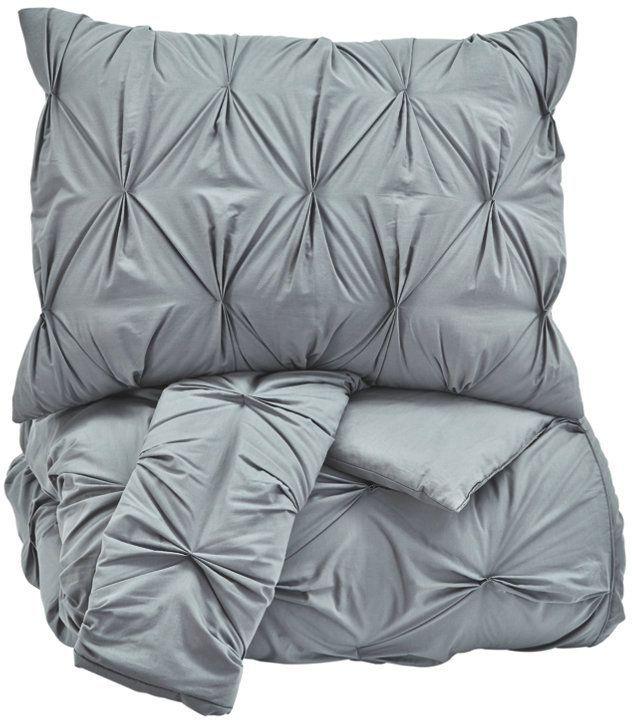 Signature Design by Ashley® Rimy Gray 3-Piece Queen Comforter Set-Q756023Q