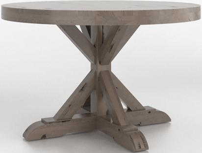 Table en bois ronde Loft, brun, Canadel®-TRN0484849NARPXNF