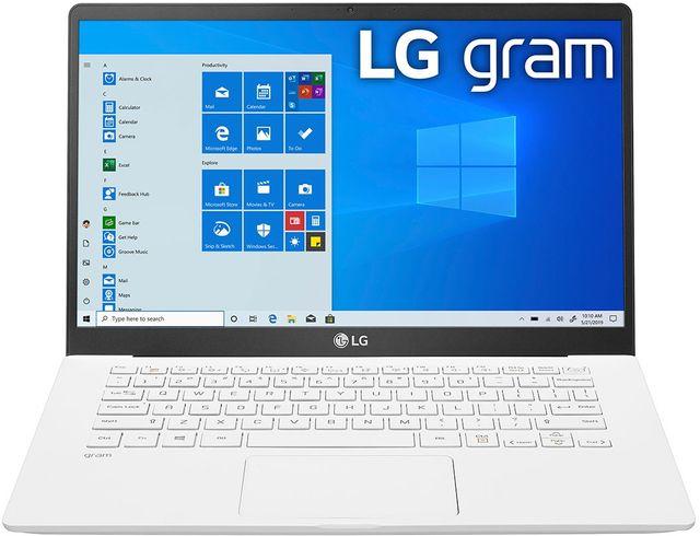 LG gram 14'' White Ultra-Lightweight Laptop-14Z90N-U.ARW5U1
