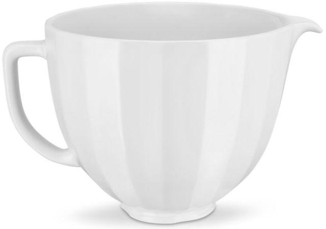 KitchenAid® White Shell 5 Quart Ceramic Bowl-KSM2CB5PWS