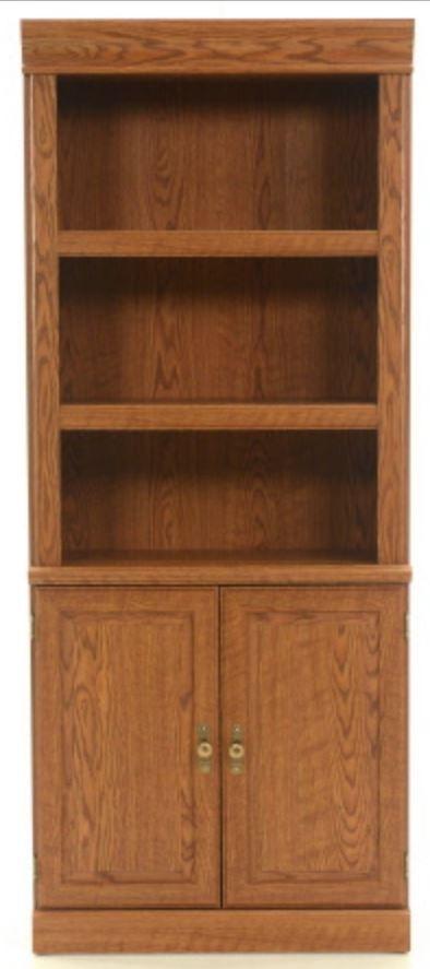Sauder® Orchard Hills Carolina Oak Library With Doors-402173