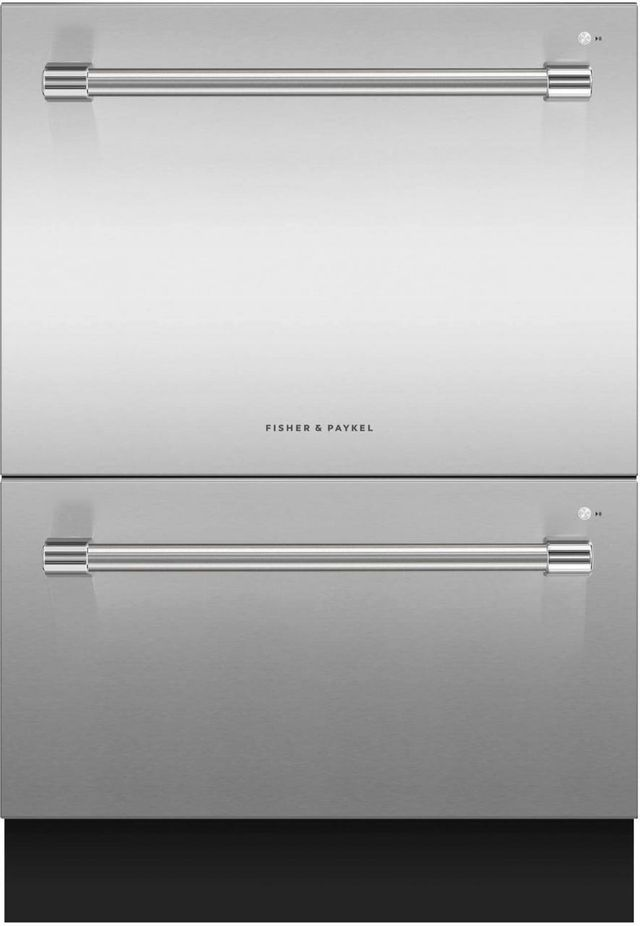 """Fisher & Paykel Series 7 24"""" Stainless Steel Double DishDrawer™ Dishwasher-DD24DV2T9 N"""