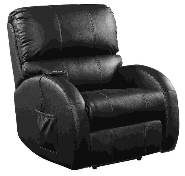 Coaster® Black Upholstered Power Lift Recliner-600416