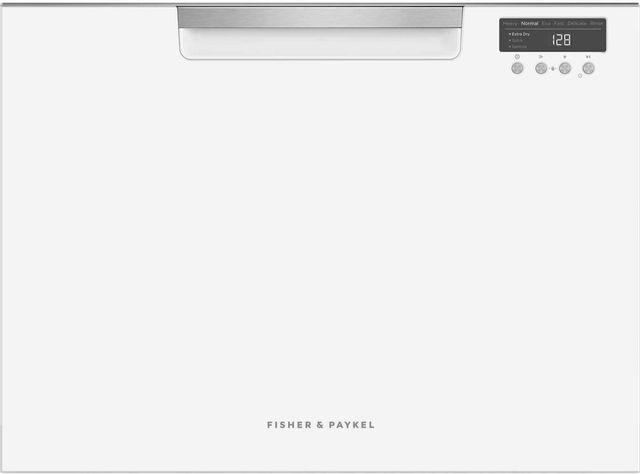"Fisher & Paykel Series 7 24"" White Single DishDrawer™ Dishwasher-DD24SCTW9 N"