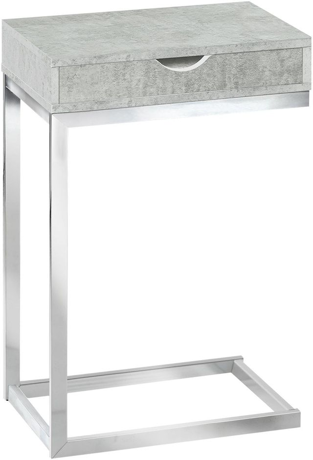 Table d'appoint rectangulaire, gris, Monarch Specialties®-I 3373