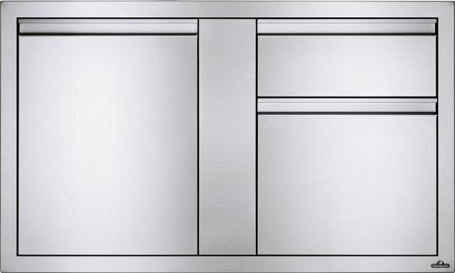 Napoleon Stainless Steel Single Large Single Door & Standard Drawer-BI-4224-1D2DR