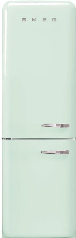 Smeg 50's Retro Style Aesthetic 11.69 Cu. Ft. Pastel Green Bottom Freezer Refrigerator-FAB32ULPG3