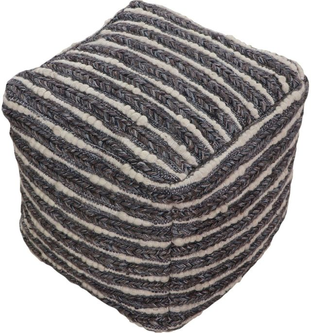 Pouf Konya en tissu noir Renwil®-PF030