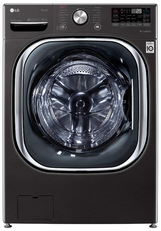LG 5.0 Cu. Ft. Black Steel Mega Capacity Smart Wi-Fi Enabled Front Load Washer-WM4500HBA