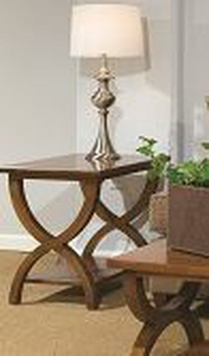 Durham Furniture Solid Accents Cherry Mist Transitional End Table-900-534D