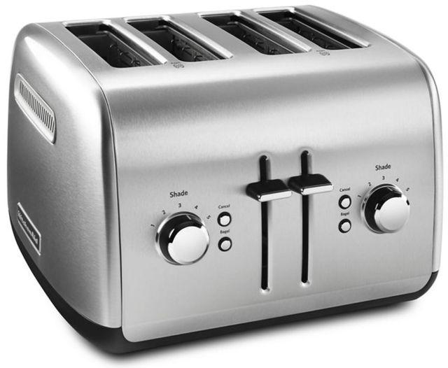 KitchenAid® 4 Slice Brushed Stainless Steel Toaster-KMT4115SX