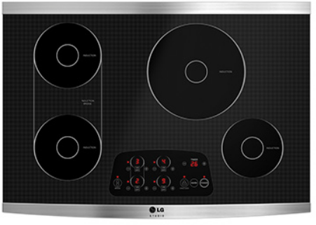 """LG Studio 30"""" Electric Induction Cooktop-Black/ Stainless Steel-LSCI307ST"""