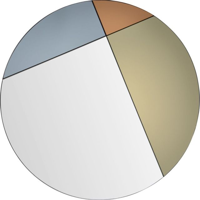 Miroir mural Tucker, gris/doré/orange, Renwil®-MT2045