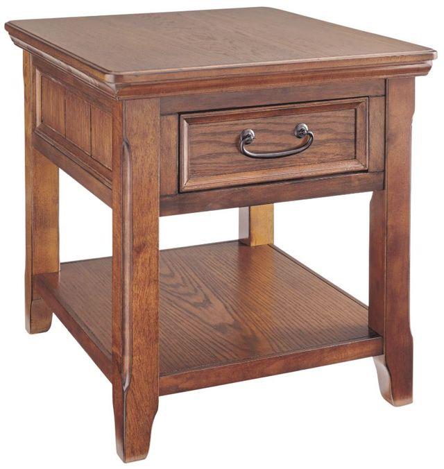 Signature Design by Ashley® Woodboro Dark Brown Rectangular End Table-T478-3