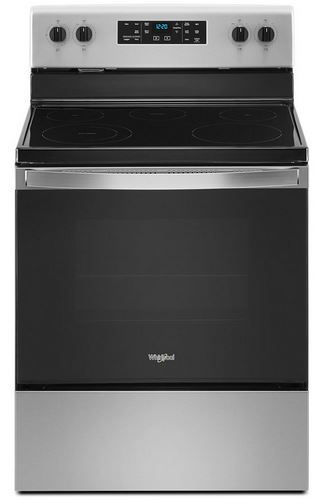 """Whirlpool® 30"""" Stainless Steel Free Standing Electric Range-WFE505W0JS"""