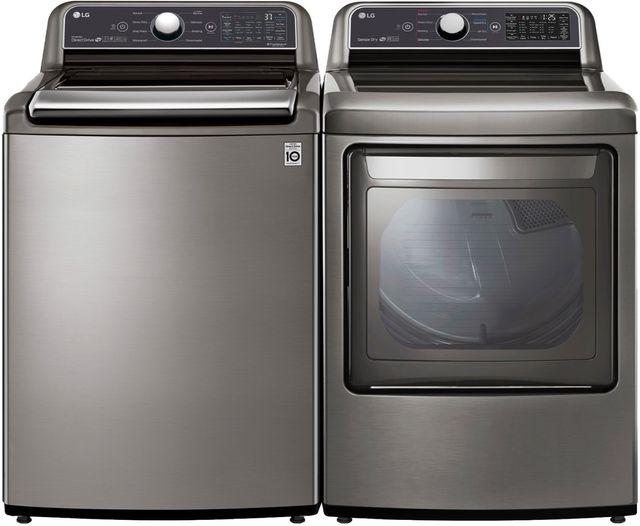 LG Graphite Steel Laundry Pair-LGLAUWT7305CV