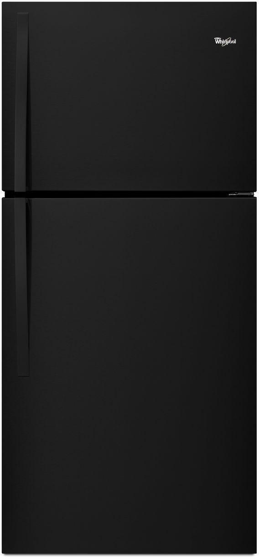 Whirlpool® 19.2 Cu. Ft. Top Freezer Refrigerator-Black-WRT549SZDB