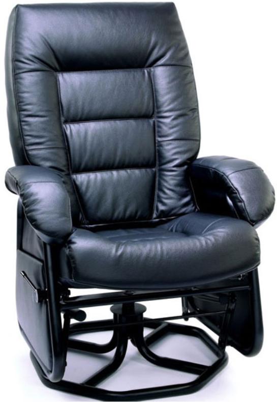 Fauteuil inclinable PEL en tissu noir PEL International®-115502
