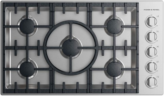 """Fisher Paykel Professional 36"""" Gas Cooktop-Stainless Steel-CDV2-365HL N"""