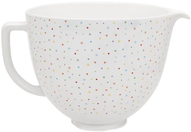 KitchenAid® Confetti Sprinkle 5 Quart Ceramic Bowl-KSM2CB5PCS