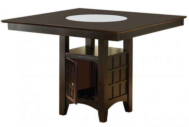 Coaster® Clanton Cappuccino Counter Height Storage Dining Table-100438