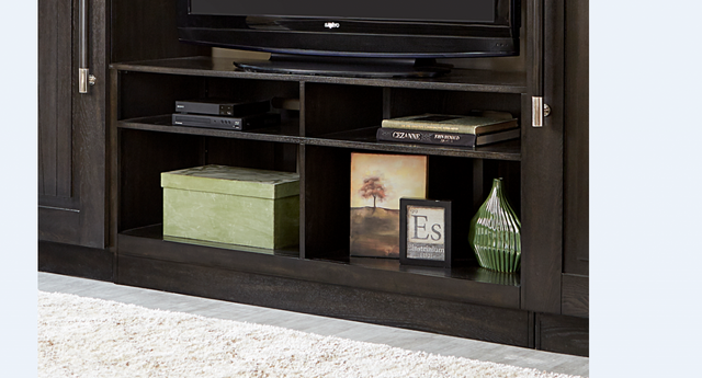 """Liberty Abbey Charcoal Entertainment 60"""" TV Stand-328-TV60"""