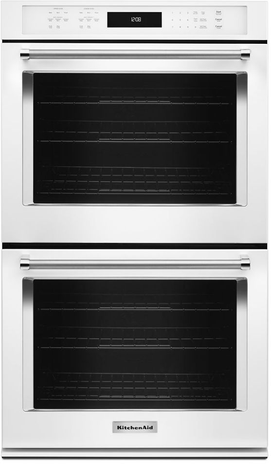 """KitchenAid® 30"""" White Electric Double Oven Built In-KODE500EWH"""