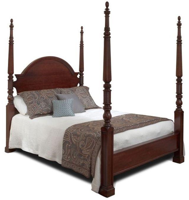 Durham Furniture George Washington Architect Vernon Queen Palladian Bed-501-123
