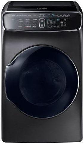 Samsung FlexDry™ Gas Dryer-Fingerprint Resistant Black Stainless Steel-DVG60M9900V