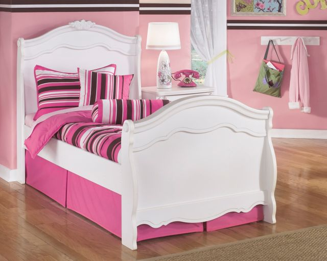Signature Design by Ashley® Exquisite White Youth Twin Sleigh Headboard-B188-63N