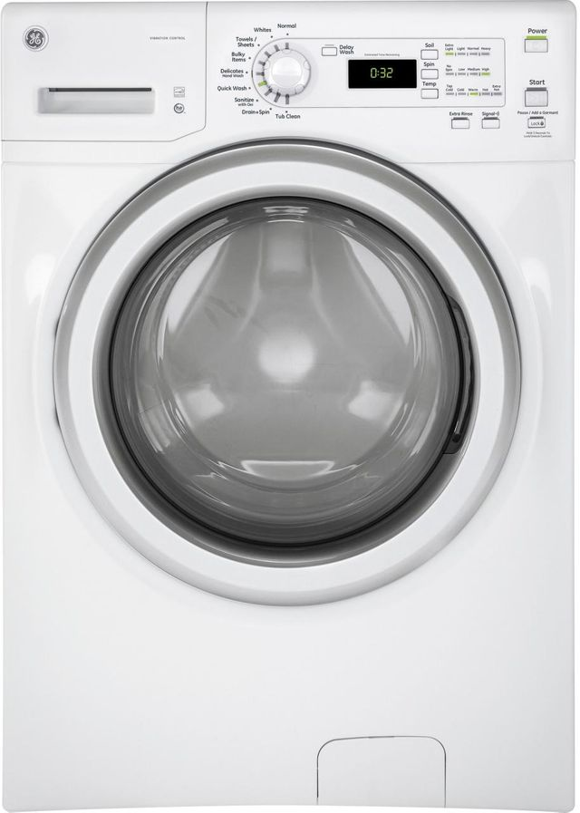 GE® Front Load Washer-White on White-GFW400SCMWW-GFW400SCMWW
