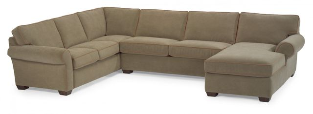 Flexsteel® Vail Leather Sectional-3305-SECT
