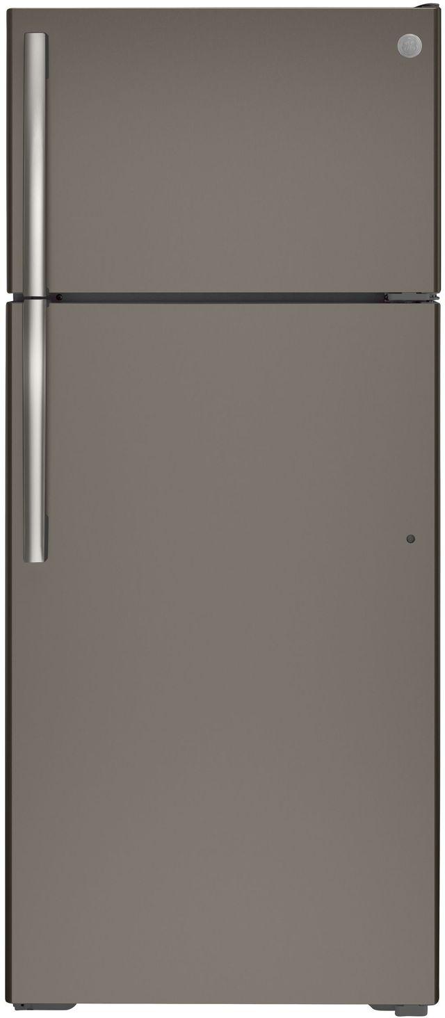 GE® 17.5 Cu. Ft. Slate Top Freezer Refrigerator-GTE18GMNRES