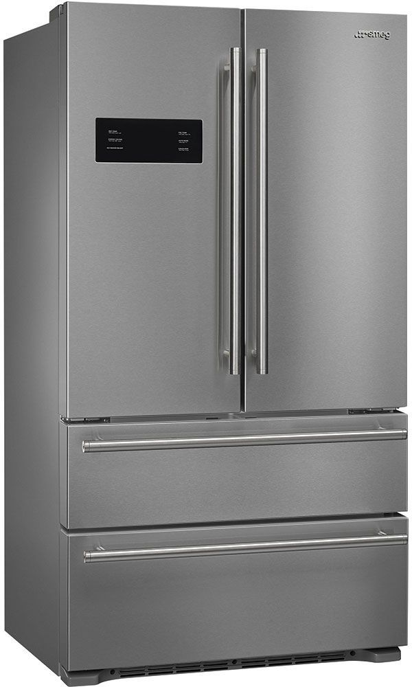Smeg Classic Aesthetic 20.67 Cu. Ft. Stainless Steel French Door Counter Depth Refrigerator-FQ50UFXE