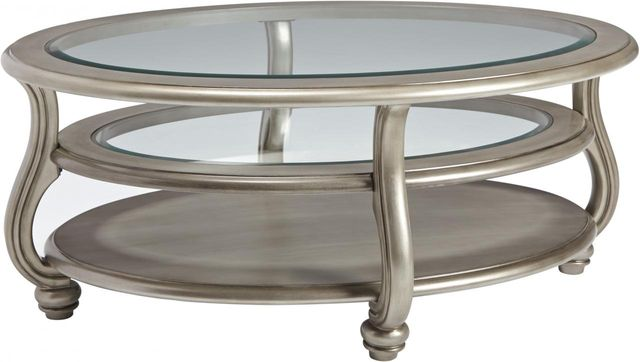 Signature Design by Ashley® Coralayne Silver Oval Coffee Table-T820-0