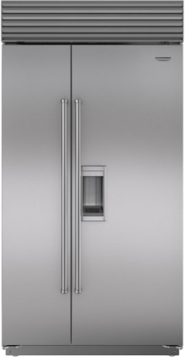 Sub-Zero® 23.9 Cu. Ft. Built In Side By Side Refrigerator-Stainless Steel-BI-42SD/S/PH