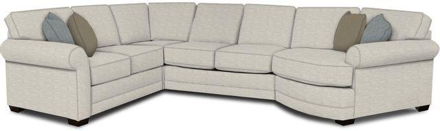 England Furniture Co. Brantley 4 Piece Culpepper Snow/Alvarado Mineral/Krauss Indigo Sectional-5630-28-22-43-95+8613+8638+8601