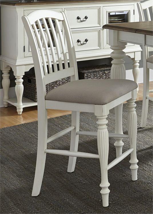 Liberty Furniture Cumberland Creek White Counter Chair-334-B150124