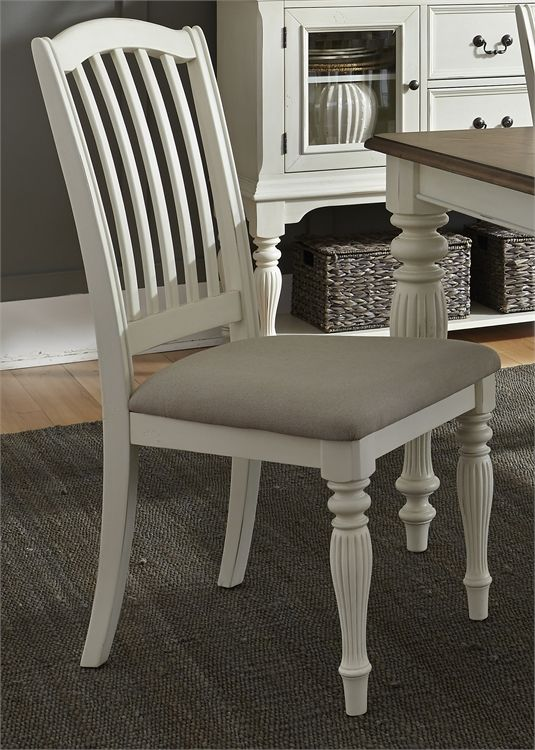 Liberty Furniture Cumberland Creek White Side Chair-334-C1501S