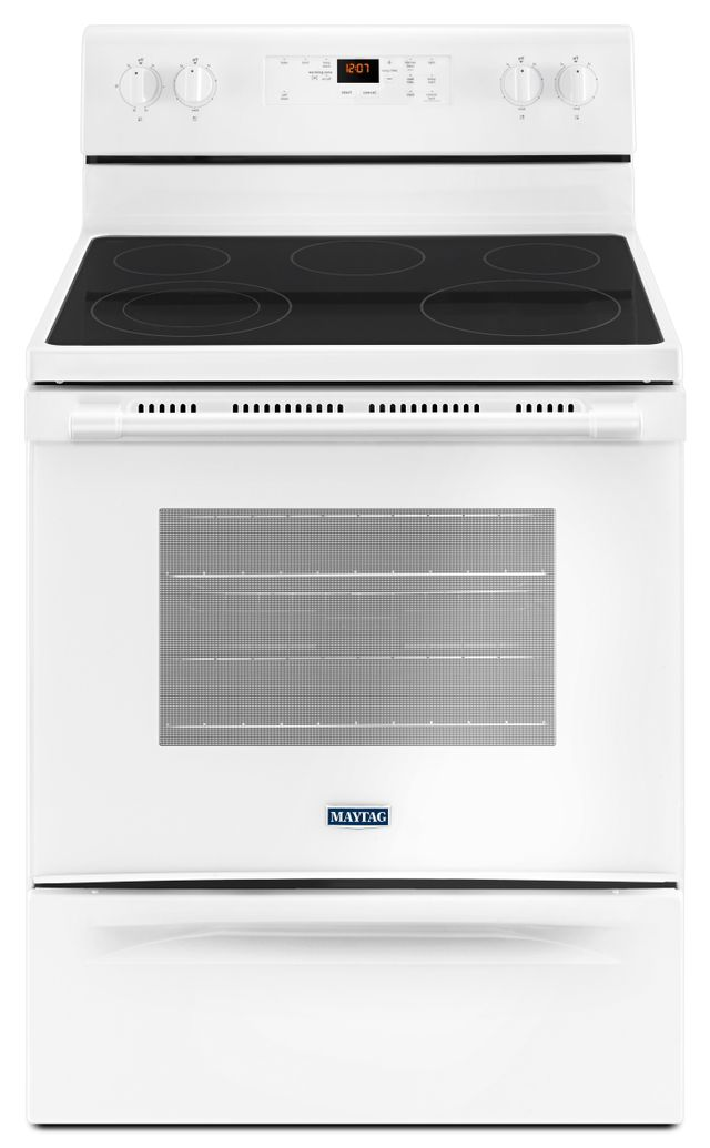 """Maytag® 30"""" White Free Standing Electric Range-YMER6600FW"""